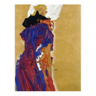 Egon Schiele- Reclining Girl on a Pillow Postcard