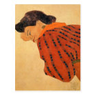 Egon Schiele- Reclining Woman with Red Blouse Postcard