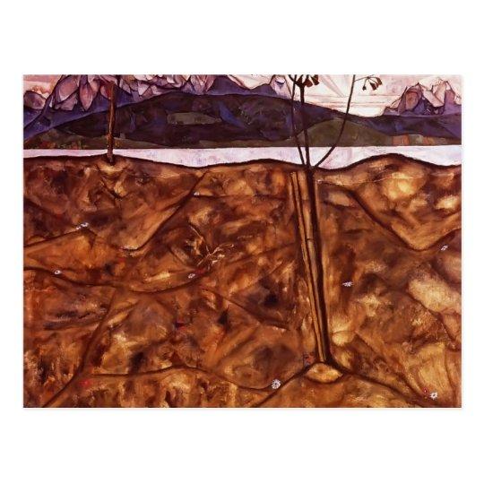 Egon Schiele- River Landscape Postcard
