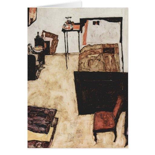 Egon Schiele- Schiele's Room in Neulengbach Greeting Card