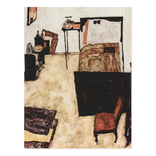 Egon Schiele- Schiele's Room in Neulengbach Post Cards