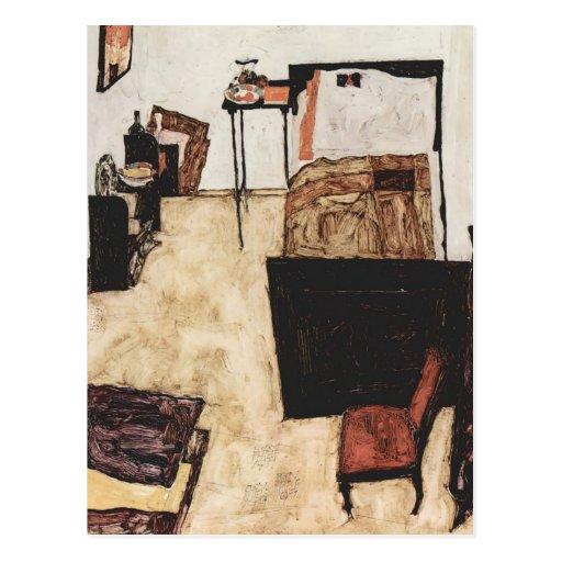 Egon Schiele- Schiele's Room in Neulengbach Post Cards