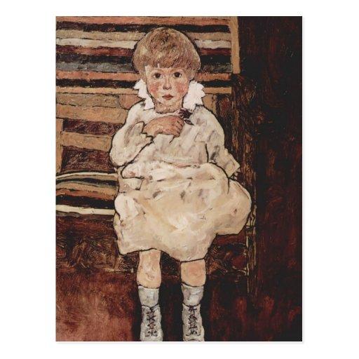 Egon Schiele- Seated child Post Card
