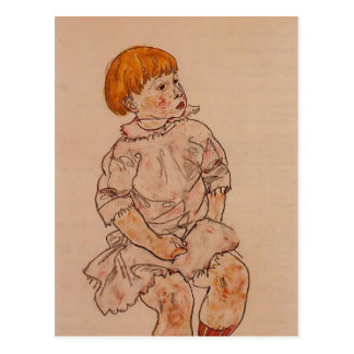Egon Schiele- Seated Child Postcard