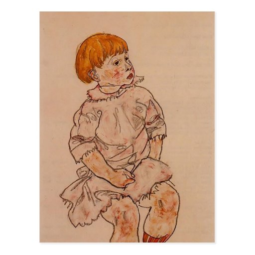 Egon Schiele- Seated Child Postcard