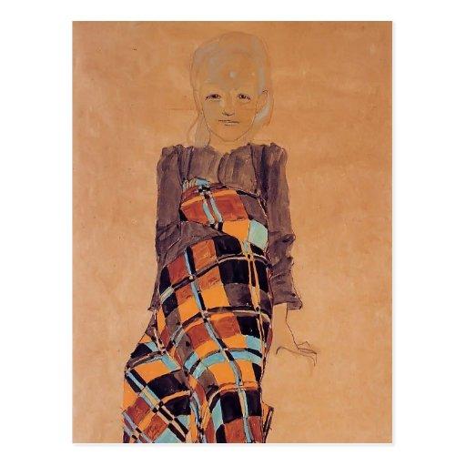 Egon Schiele- Seated Girl Post Card