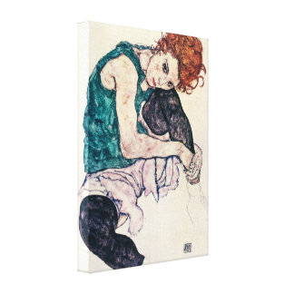 Egon Schiele Seated Woman Canvas Print