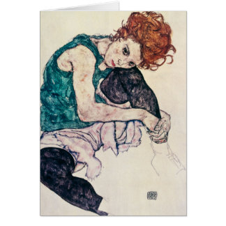 Egon Schiele Seated Woman Greeting Card