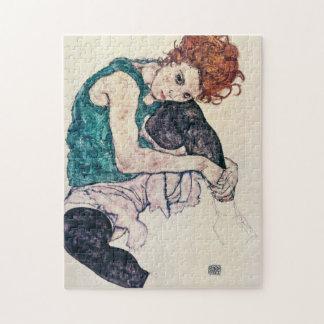Egon Schiele Seated Woman Puzzle