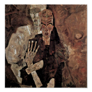 Egon Schiele - Selbstseher or death and man Poster