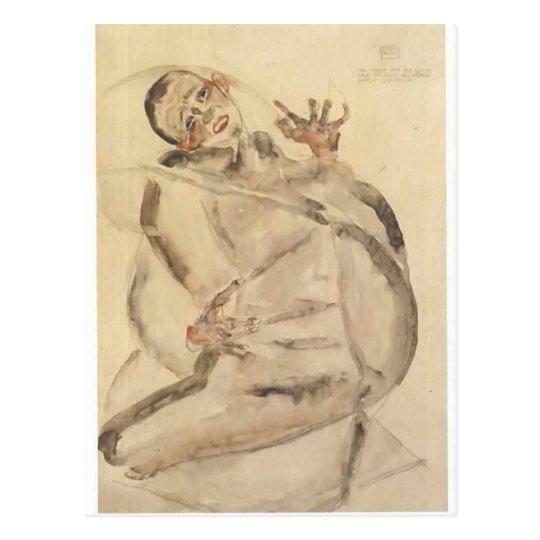 Egon Schiele- Self-portrait as prisoner Postcard