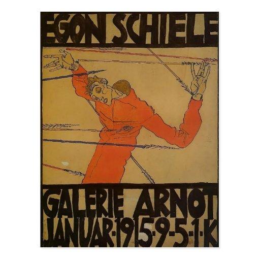 Egon Schiele- Self Portrait as St. Sebastian Postcards