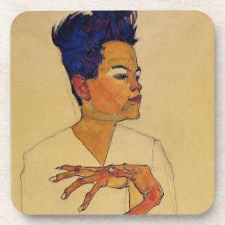 Egon Schiele Self Portrait Coasters