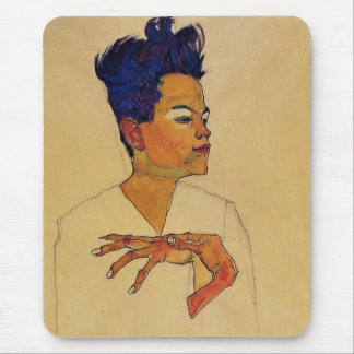 Egon Schiele Self Portrait Mouse Mat