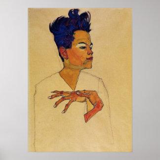 Egon Schiele Self Portrait Poster