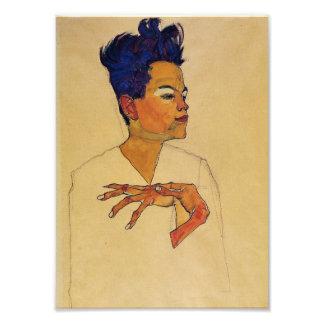 Egon Schiele Self Portrait Print