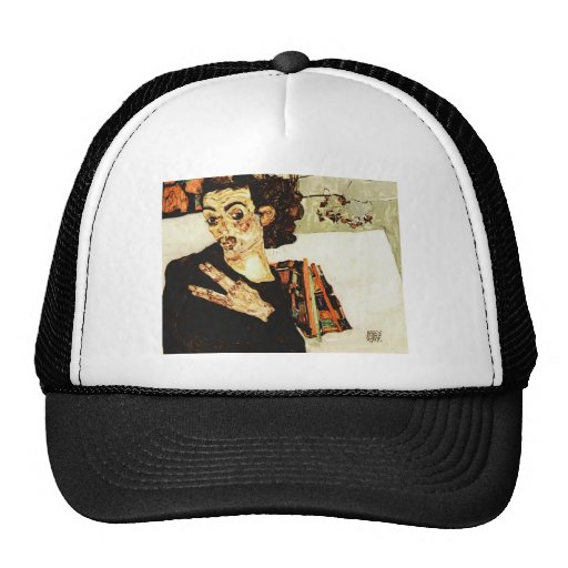 Egon Schiele- Self-Portrait with Black Vase Hat