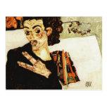 Egon Schiele- Self-Portrait with Black Vase Postcard