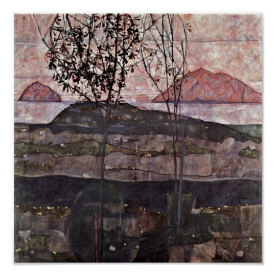 Egon Schiele - setting sun Poster
