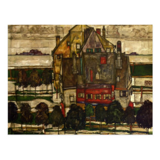Egon Schiele- Single Houses Postcards