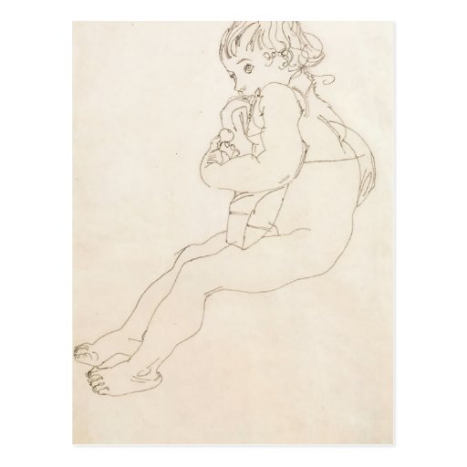 Egon Schiele- Sitting Child Postcard