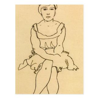 Egon Schiele- Sitting Woman Postcard