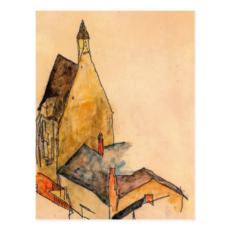Egon Schiele- Spitalskirche, Molding Postcard