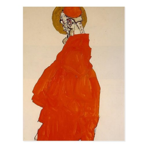 Egon Schiele- Standing Figure with Halo Post Card