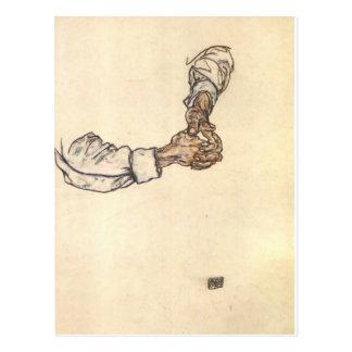 Egon Schiele- Study of hands Postcard