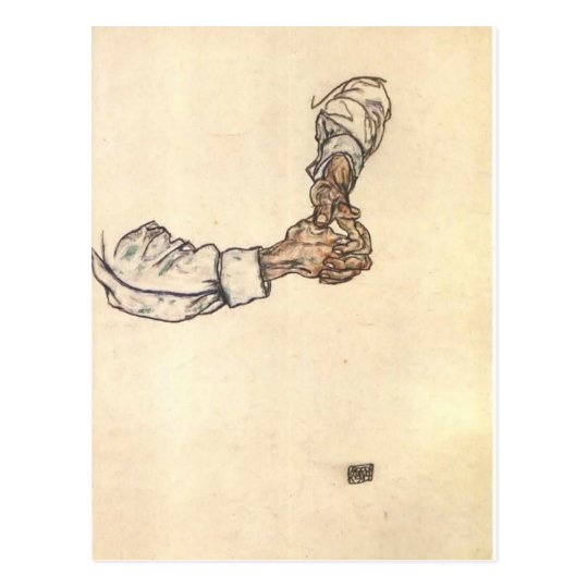 Egon Schiele- Study of hands Postcard