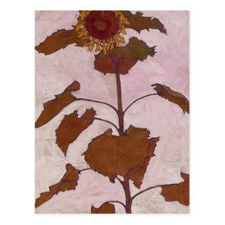 Egon Schiele- Sunflower Postcard