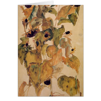 Egon Schiele- Sunflowers Card