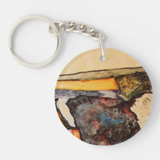 Egon Schiele- The Artist's Mother, Sleeping Key Chains
