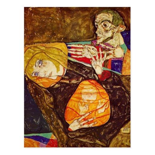 Egon Schiele- The Holy Family Postcard