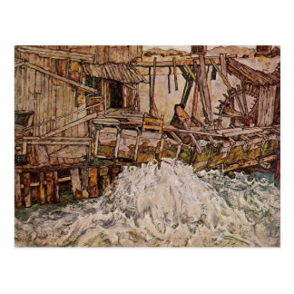 Egon Schiele- The Mill Post Card