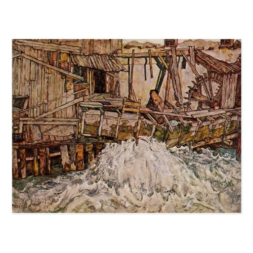Egon Schiele- The Mill Post Card