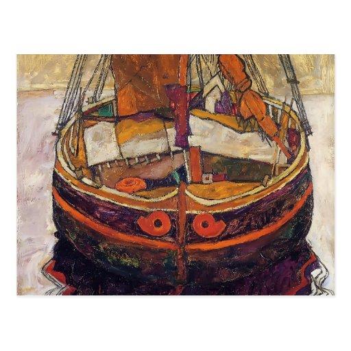 Egon Schiele- Trieste Fishing Boat Post Card