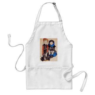 Egon Schiele- Two Little Girls Aprons