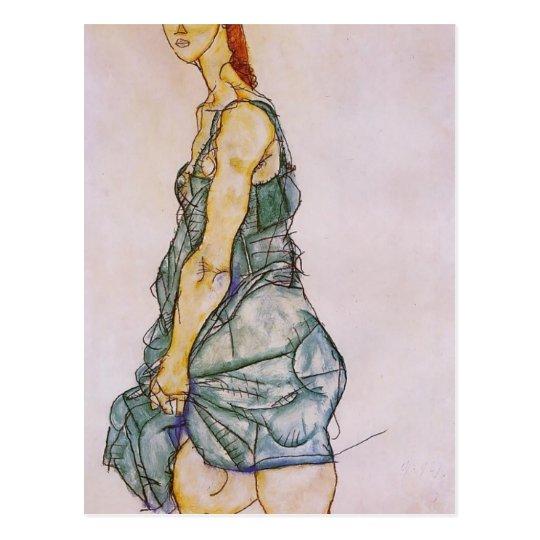Egon Schiele- Upright Standing Woman Postcard