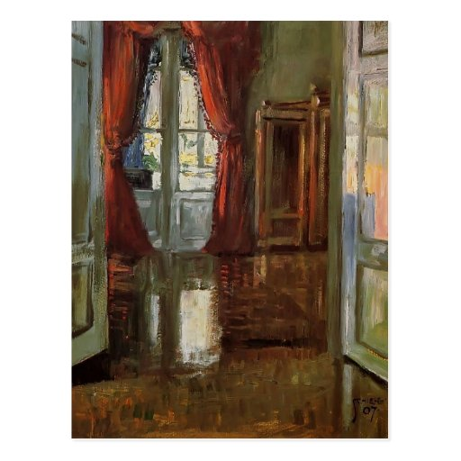 Egon Schiele- View into the Apartment of Leopold Post Card