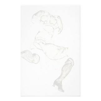 Egon Schiele- Woman with Black Stockings Stationery Design