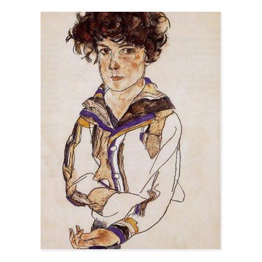Egon Schiele- Young Boy Postcards