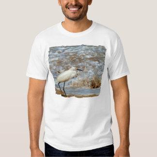Egret and Wave Splash Tee Shirt