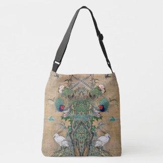 Egret Birds Rose Flower Wildlife Pheasant Tote Bag