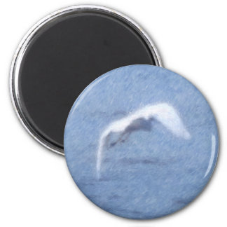 Egret Flight Magnet