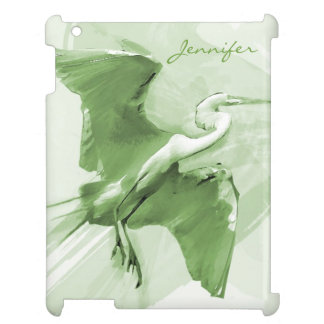 Egret Flying On The Sky, iPad Case