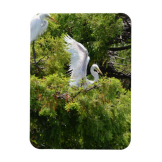 Egret in a Tree Flexible Magnets