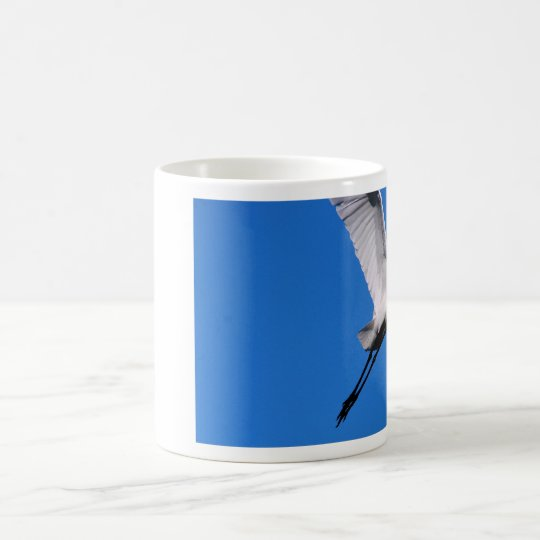 Egret in Flight Coffee Mug