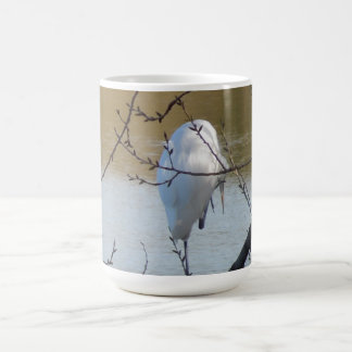 Egret in Tree Mug