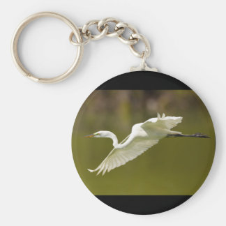 egret basic round button key ring